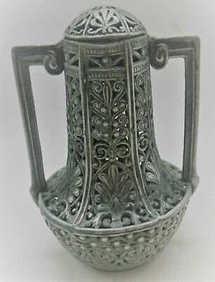 Beautiful Old Islamic Antique Ottoman Silvered Twin Handled Spice Canister