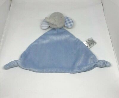 Mothecare Elephant Baby Comforter, Grey With Blue Ears