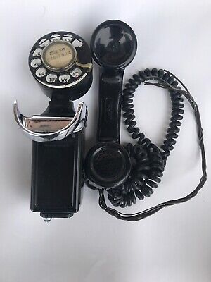 Western Electric 43A - G7 Space Saver with Rotary Dial Wall Mount Telephone