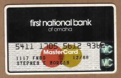 First National Bank of Omaha MasterCard Credit Card Exp 12/88