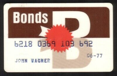 Bonds Store (Citicorp) Regular Size Merchant Credit Card
