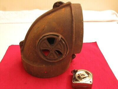 Antique Cast Iron Stove Vent Elbow Pipe Nautical Steamer Smoke Stack Steampunk