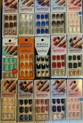 Kiss imPRESS SHORT Press-On Manicure Nails set of 30 Nails or 24 Toes-you choose