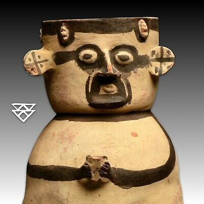Authentic Pre-Columbian Chancay Anthropomorphic China | Peru Ca. 800-1200 CE