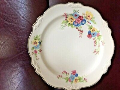 """USA MADE Homer Laughlin Virginia Rose 9"""" Luncheon Floral Plate, LN!"""