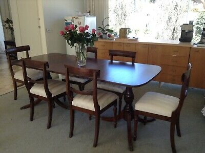 dining table and chairs Antique. Extension table with insert. Good condition