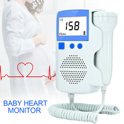 .US 3.0 MHZ Fetal Heart Rate Detector Pregnant Pocket Doppler Baby Heart Monitor