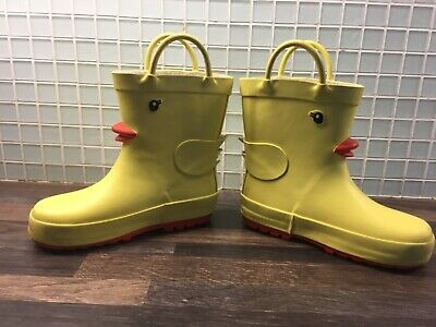 kids girls boys wellies wellington boots size 8 next yellow rrp £15