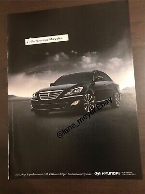 Hyundai Genesis R Spec Performance Likes This ORIGINAL VINTAGE AD ADVERTISEMENT