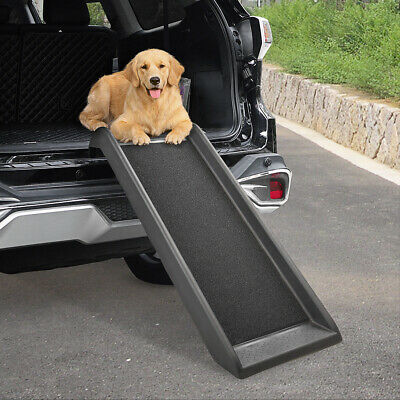 39.7'' Portable Dog Pet Ramp for Car Truck Backseat Pet Ladder Stair Steps