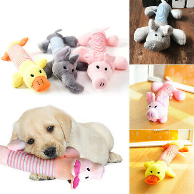 UK Funny Soft Pet Puppy Chew Play Squeaker Squeaky Cute Plush Sound For Dog Toys
