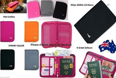 New TRAVEL WALLET PASSPORT HOLDER Document Credit Card ORGANIZER Bag ID Purse AU