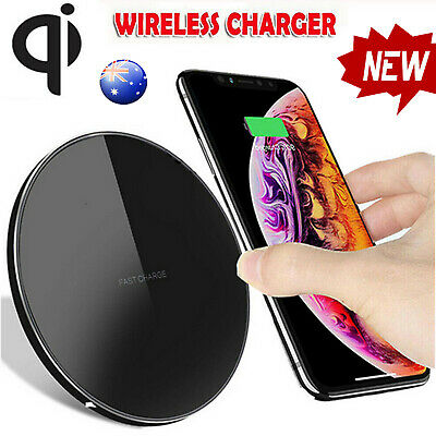 10W QI Fast Wireless Charger Charging Pad Mat Metal For iPhone 11 Pro Max XR XS