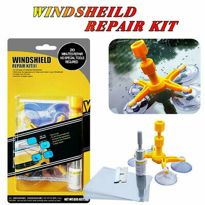 Windshield Repair Fix Tool Kit with Resin for Car Auto Glass Crack Scratch