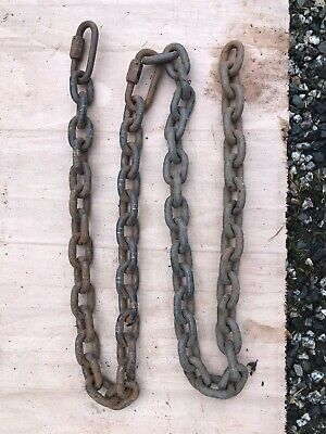 HEAVY DUTY STEEL SHORT LINK WELDED CHAIN 40mm x 30mm x 8mm x 1.5 metres (JOIN)