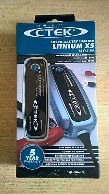 CTEK Lithium XS 12v 5A   LiFePO4 Smart Battery Charger