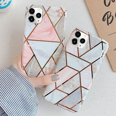 Geometric Marble Plating Case for iPhone 11 Pro XS MAX X XR 8 7 Plus Soft Cover