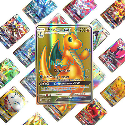 UK 100/200 Pcs TGA GX EX MEGA Energy Holo Trading Flash Pokemon Cards Bundle FE