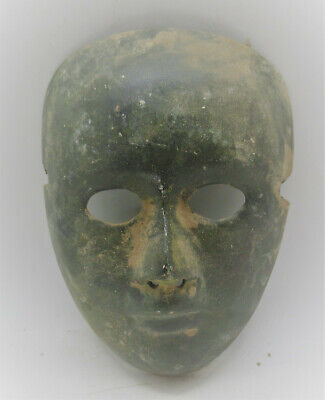 Circa 100-300Ad Roman Era Theatrical Mask Extremely Rare European Finds