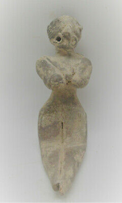 Circa 2200-1800Bce Indus Valley Harrapan Terracotta Fertility Figure