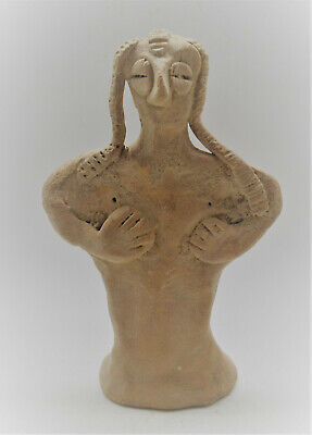 Museum Quality Circa 1180-700Bce Ancient Syro-Hittite Terracotta Fertility Idol