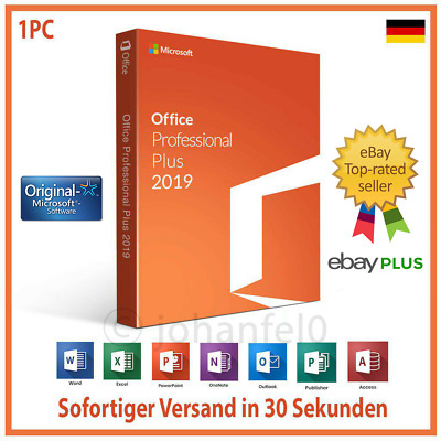 Microsoft Office 2019 Professional Plus Lizenzschlüssel Product Key 32 & 64 BIT
