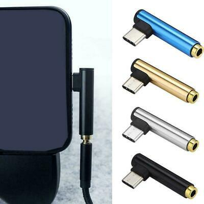 Universal Type-C to 3.5mm jack earphone Cable USB C Adapter Headphone Audio W8R2