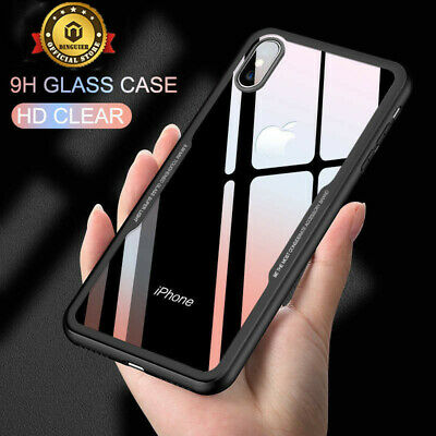 Shockproof Case Cover Hybrid Toughen Glass for i Phone XS MAX XR X 7 8 Plus