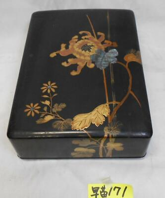 Letter Box Mother-of-pearl work Lacquerware Meiji Taisho Era traditional craft