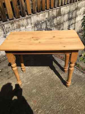 Antique Victorian Style Small Size Pine Kitchen Dinning Console Side Table