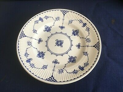 """Furnivals Denmark blue 7 """" side/tea plate (minor scratches to centre)"""