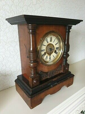 Antique German H.A.C  8 Day Mantel Chiming Bracket Clock in gwo