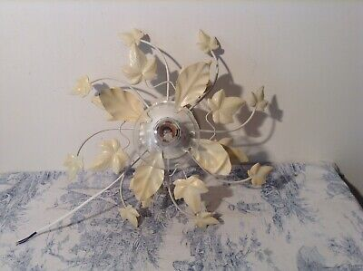 French / Italian Style Tole Leaf Ceiling / Wall Light - Toleware