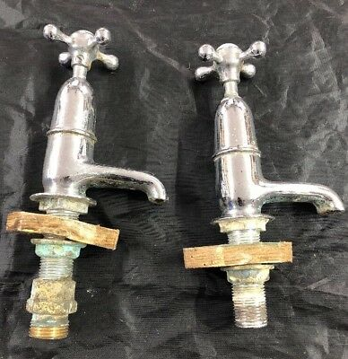 Vintage/ Victorian Sink Taps - Hot & Cold - Need Overhauling -