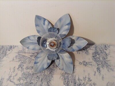 French / Italian Style Tole Flower Ceiling / Wall Light - Toleware