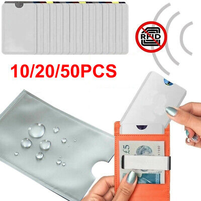 10/20/50× RFID Blocking Sleeve Credit Card Protector Passport Holders Cover Case