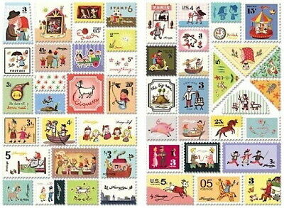 Stamp Decorative 100 Stickers Ver.3 - FRANCOISE 7321 Design Gift Present