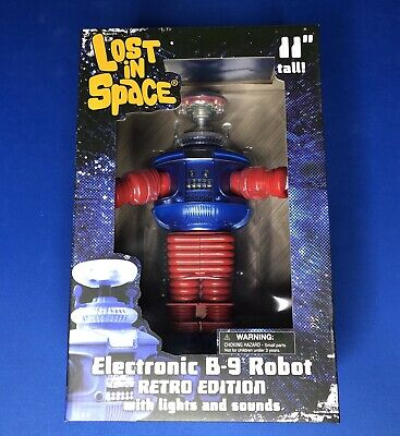 NEW Lost in Space B9 Retro Electronic Robot Figure, NIB In Hand