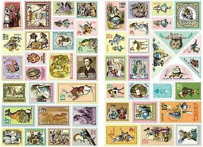 Stamp Decorative 100 Stickers Ver.3 - Alice's in Wonderland 7321 Gift Present