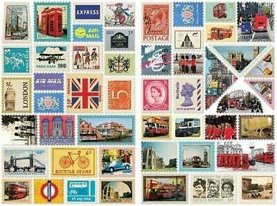 Stamp Decorative 100 Stickers Ver.3 - London City 7321 design Gift Present