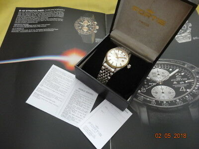 1965 FORTIS STRATOLINER 20ATM 600FT AUTOMATIC DATE 37mm ETA 2472 BAND BOX SERVIC