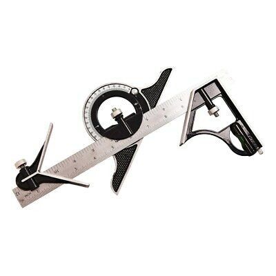 """12"""" Combination Square and Protractor with Angle Finder - Metric & Inches"""