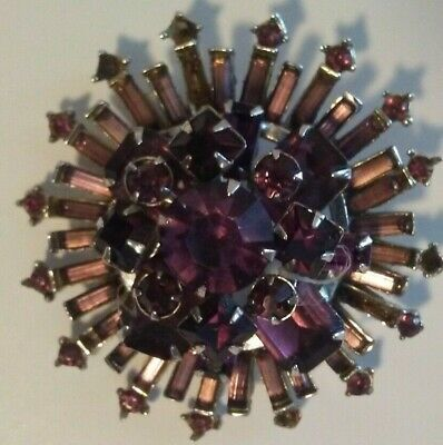 *Amethyst Vintage Antique Brooch Pin Art Deco ~ Victorian ~ Art Nouveau ~ Retro