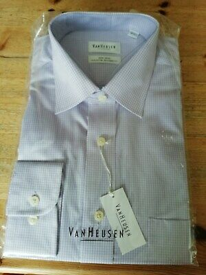 "Van Heusen Non Iron Shirt, Size 16"" (41cm) Brand New with Tags. Colour Lilac"