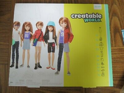 Creatable World™ Deluxe Character Kit Customizable Doll, Copper Straight Hair