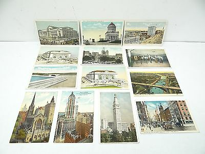 Vintage Lot Posted Grand Central Harlem River New York Public Library Postcards