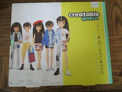 Creatable World™ Deluxe Character Kit Customizable Doll, Black Straight Hair