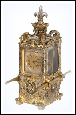 Rare Antique Sedan Chair French Carriage Clock