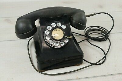 Vintage 1940's Bell System Western Electric Metal Rotary 302 Telephone Phone