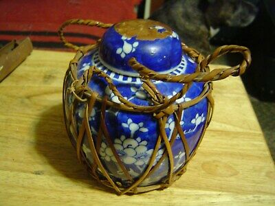 Antique 19th Century Chinese Prunus Blossom Ginger Jar